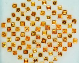10.08Cts Natural Fanta Orange Spessartite garnet round 2.50mm parcel