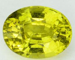 1.65Cts Natural Yellow Green Chrysoberyl Sri Lanka