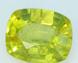 1.76Cts Natural Yellow Green Chrysoberyl Cushion Sri Lanka