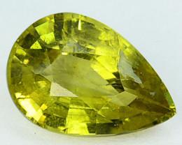 1.91Cts Natural Greenish Yellow Chrysoberyl  Pear Sri Lanka