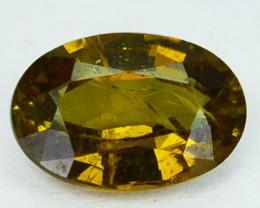 1.37Cts Natural Brownish yellow Chrysoberyl Sri Lanka Oval