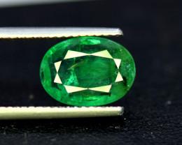Emerald, 3.75 Carats Oval Cut Natural Zambian Emerald Gemstone
