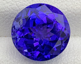 4.47 CT Tanzanite Gemstone Top Luster and cutting Loupe clean Round shape