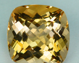 3.14Cts Natural Peach Yellow Morganite Cushion Cut Brazil