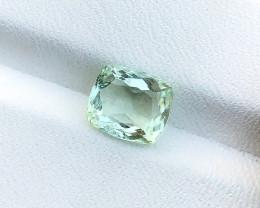 2.15 Ct Natural Light Green Transparent Tourmaline Gemstone