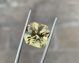 5.35 Ct Natural Yellow Transparent Citrine  Gemstone