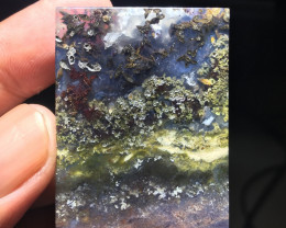 88.65 CT COLLECTOR PIECES PURPLE MOSS AGATE PICTURE