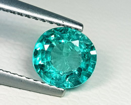 1.28 ct Exclusive  Gem Amazing Round Cut Natural Green Apatite