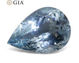 17.43ct Pear Aquamarine GIA Certified