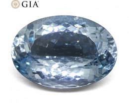20.28ct Oval Aquamarine GIA Certified