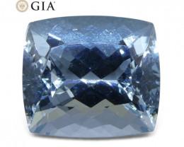 10.98ct Cushion Aquamarine GIA Certified