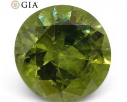 1.9ct Round Demantoid Garnet GIA Certified