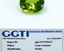 NR!!! GGTI-Certified-1.53 Cts Green Peridot Gemstone