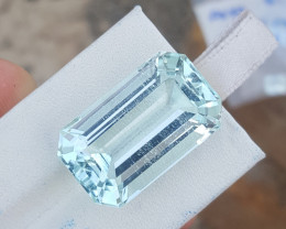 34.25 Carat Natural Aquamarine.