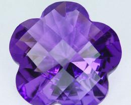 11.27 Cts Natural Purple Amethyst Flower Bolivia Gem