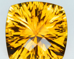 11.59Cts Natural Citrine  Custom checker board Brazil