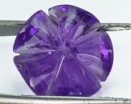 12.59 Cts Natural Purple Amethyst Flower Bolivia Gem