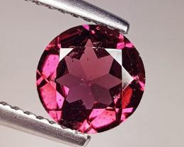 1.30 ct Exclusive Gem Round Cut Natural Purple Pink Rhodolite Garnet