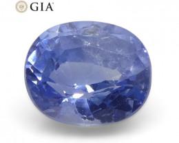 0.81ct Oval Blue Sapphire GIA Certified Kashmir Unheated