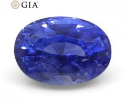 1.66ct Oval Blue Sapphire GIA Certified Sri Lanka Unheated