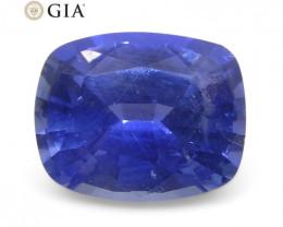 1.22ct Cushion Violetish Blue Sapphire GIA Certified Sri Lanka Unheated