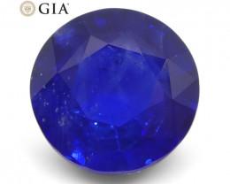 5.04ct Round Blue Sapphire GIA Certified Sri Lanka