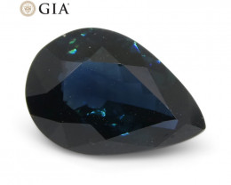 1.87ct Pear Teal Blue Sapphire GIA Certified Australia Unheated