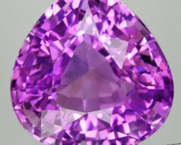 Very Clean! IF 26.63ct 19.7x19mm Pear Natural Unheated Purple Amethyst, Uru