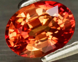 Good VVS Clarity! 1.10ct 7x5mm Oval Natural Orange Sapphire Songea, Tanzani