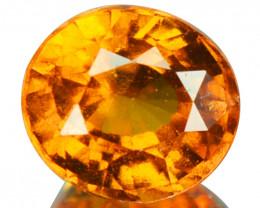 1.64 Cts Natural Cinnamon Orange Hessonite Garnet Oval Sri Lanka