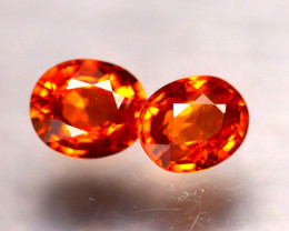 Garnet 1.64Ct 2Pcs Natural Vivid Orange Spessartite Garnet E0508/B34