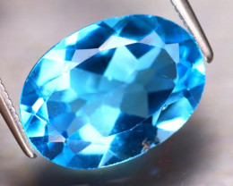 Swiss Topaz 5.82Ct Natural VVS Swiss Blue Topaz EF0527/A48