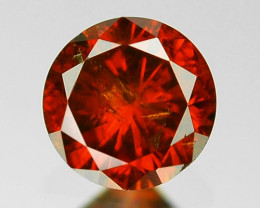 *NoReserve* 0.13 Sparkling Rare Fancy Orange Red Color Natural Loose Diamon