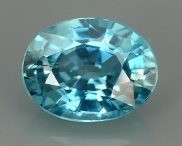 EXCELLENT 2.60 CTS AWESOME SPARKLE NATURAL RARE BEST BLUE ZIRCON!