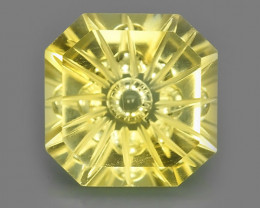 11.80 CTS DAZZLING NATURAL RARE~YELLOW~GOLD FANCY CUT CUSHION~CITRINE ~$450