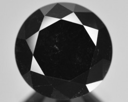 2.51 Cts Amazing Rare Fancy Black Color Natural Loose Diamond