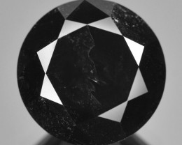 5.02 Cts Amazing Rare Fancy Black Color Natural Loose Diamond
