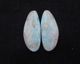 28cts Natural Larimar Gemstone Cabochons,Skyblue Larimar Cabochons H336