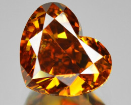 0.51 Cts Untreated Fancy Orange Yellow Color Natural Loose Diamond
