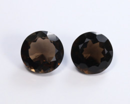 6.28tcw Natural Smokey Quartz Earrings