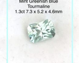 Fine Faceted Mint Blue Tourmaline - Nigeria 2348