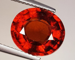 5..71 ct Top Grade Gem Oval Cut Top Luster Hessonite Garnet