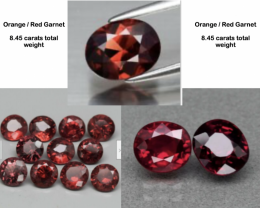 8.45 carats Orange Red Garnet Parcel Lot