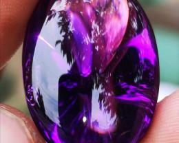 Cert. 49.45CT  Borneo Amethys Deep Violetish Purple very clean Rare stone j
