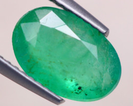 2.33ct Natural Zambia Green Emerald Oval Cut Lot V7729