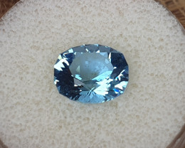 4.16ct Double blue Aquamarine - Master cut!