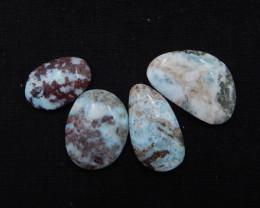 86cts Natural Larimar Gemstone Cabochons,Skyblue Larimar Cabochons H350
