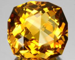 ~CUSTOM CUT~ 8.32 Cts Natural Golden Orange Citrine Fancy Cush Brazil