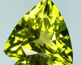 ~STUNNING~ 5.55 Cts Natural Green Apatite 12mm Trillion Cut Brazil