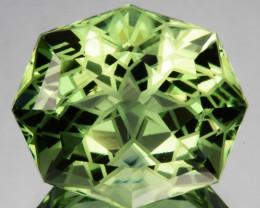 ~CUSTOM CUT~ 13.25 Cts Natural Prasiolite / Amethyst Fancy Cushion Brazil